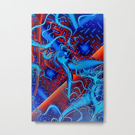 Android Fused Glass Fractal Metal Print