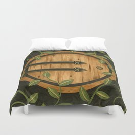 In a hole in the ground Duvet Cover