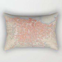 Vintage Map of Beirut Lebanon (1922) Rectangular Pillow