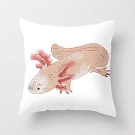 Aztec Salamander Throw Pillow