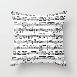 Sheet Music Throw Pillow