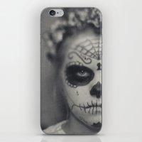 dia de los muertos iPhone & iPod Skins featuring Dia de los muertos by Brandy Coleman Ford