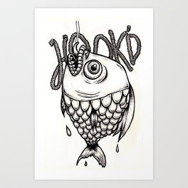 Hook'D Art Print