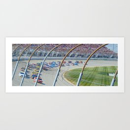 Let's Race Art Print