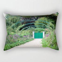 Monet's Garden Gate  Rectangular Pillow