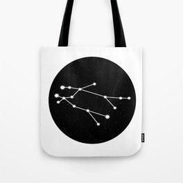 Gemini Star Sign Night Sky Circle Tote Bag