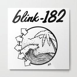 blink-182 beach BLACK Metal Print
