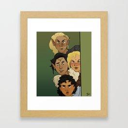Snooping Framed Art Print