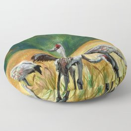 Sandhill Cranes Floor Pillow