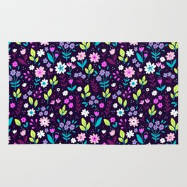 """Cute Floral pattern in the small flower. """"Ditsy print"""". Vintage. Rug"""