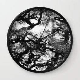 Tree of Japan (black and white edit) Wall Clock