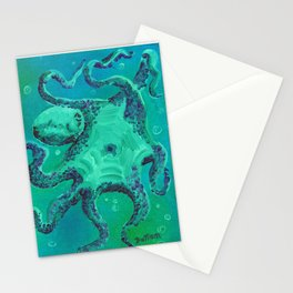Octopus by Mary Bottom Stationery Cards