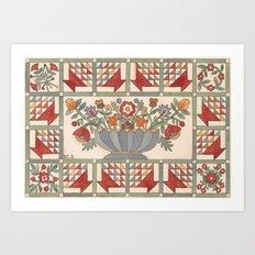 Applique Florals Art Print