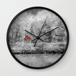 Red Shack Photography Wall Clock