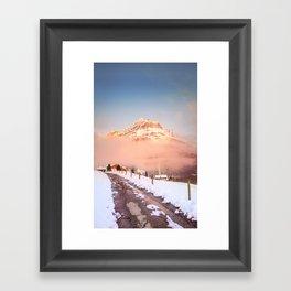 Follow the path Framed Art Print