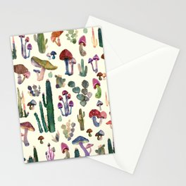 mushrooms and cactus Stationery Cards