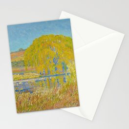 Willow Tree & Tidal Basin Sunrise landscape painting by J.H. Pierneef Stationery Cards