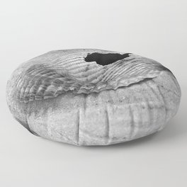 broken shell, black and white Floor Pillow