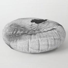 broken shell, black and white Floor Pillow