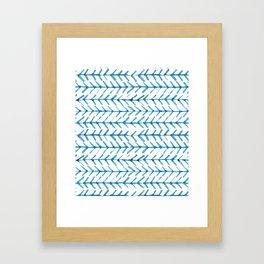 Indigo Arrow Pattern Framed Art Print
