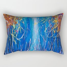 Impressionist Autumn -  ( inspired by Pollock ) Rectangular Pillow
