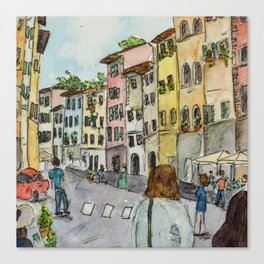 A Stroll Through Florence Canvas Print