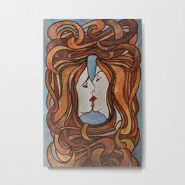 Lesbian Kiss (Art Nouveau Style) Metal Print