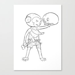 Monkey Pirate - ink Canvas Print