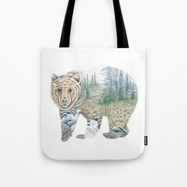 Spirit of the Grizzly Tote Bag