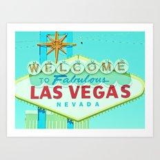 Vintage Vegas Sign - Las Vegas Sign Art Print