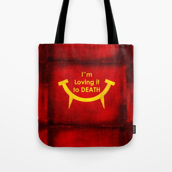McViper the zombie and vampire fast food chain, Bloody good food is our motto! Tote Bag