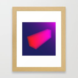 Layer Rectangle Framed Art Print