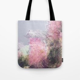 Wild Roses in Motion - Glitch Tote Bag