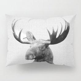 Moose - Black & White Pillow Sham