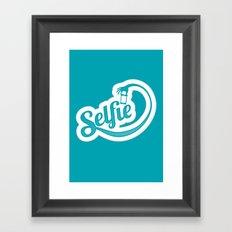 Stop. Let me take a selfie. Framed Art Print
