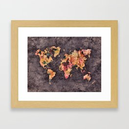 world map 68 Framed Art Print