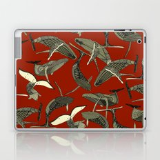 just whales red Laptop & iPad Skin