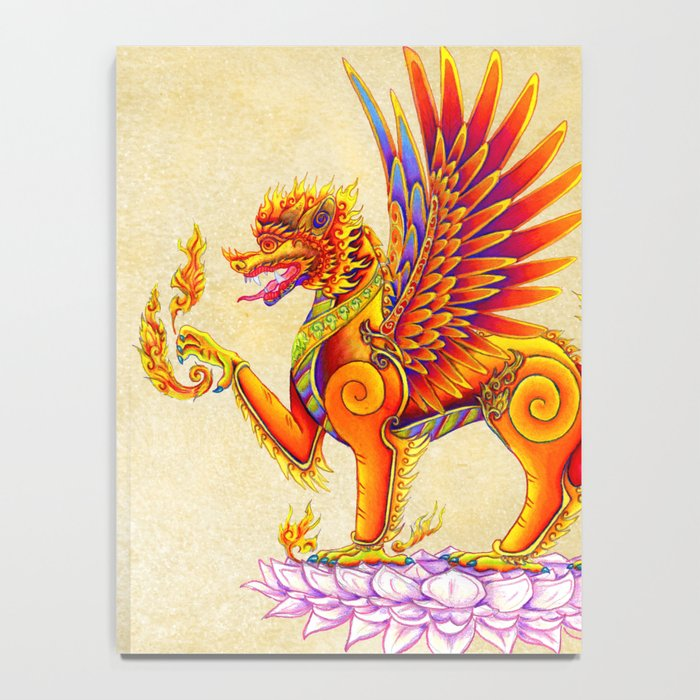 Singha Winged Lion Temple Guardian Notebook