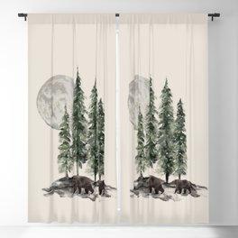 Full Moon Rising Blackout Curtain
