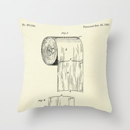 Toilet Paper Roll-1891 Throw Pillow