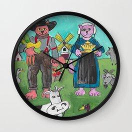 Pennsylvania Cat Wall Clock