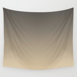 Brown and Tan Gradient Ombre Fade Blend 2021 Color of the Year Urbane Bronze and Ivoire Wall Tapestry