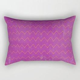 Abstract geometrical magenta pink orange watercolor chevron Rectangular Pillow