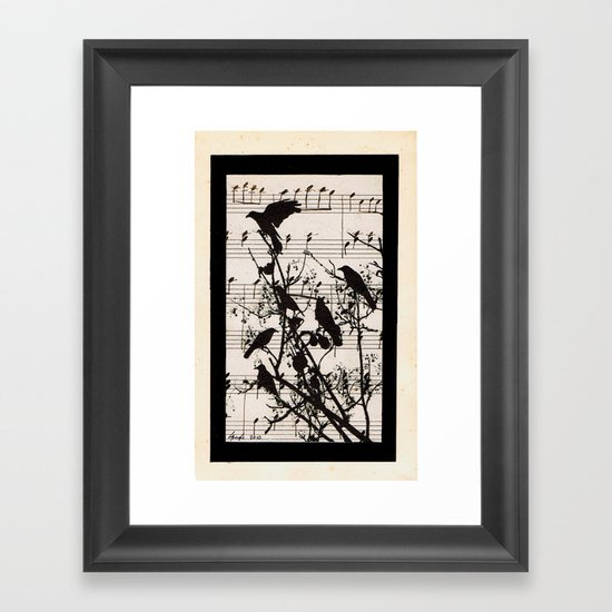 Raven Lied Framed Art Print