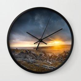Sunrise Inishmore Aran Islands Ireland Wall Clock