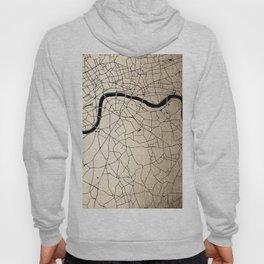 London Gold on Black Street Map II Hoody
