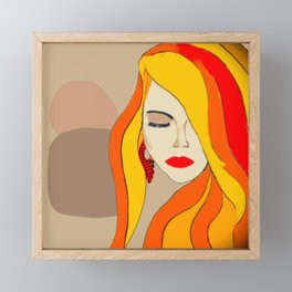 Redhead Beauty 1 Framed Mini Art Print