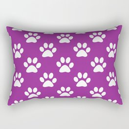 Purple and white paws pattern Rectangular Pillow