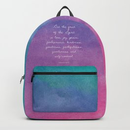 Galatians 5:22-23, Fruit of the Spirit Scripture Quote Backpack