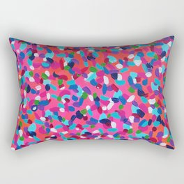 Pink Dreams Abstract Painting Rectangular Pillow